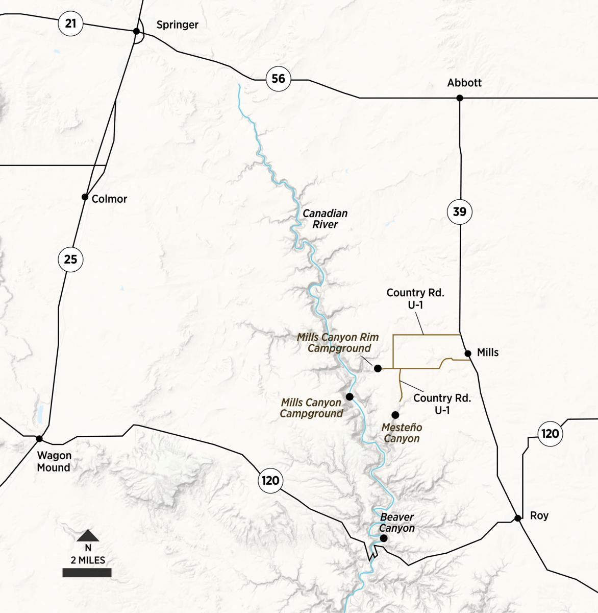 Map of Roy, New Mexico Magazine
