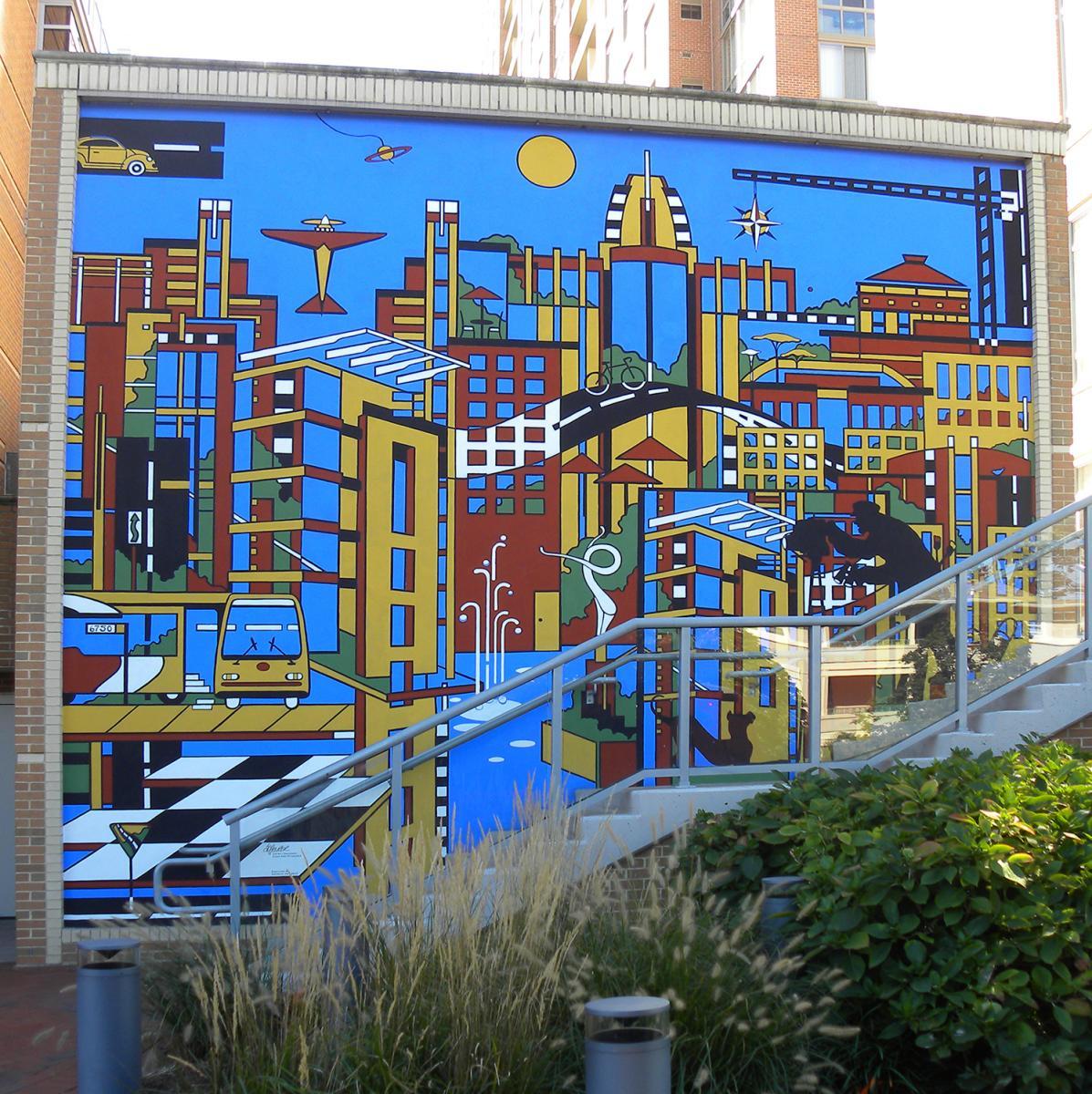 Reston public art - Midtown Community Mural