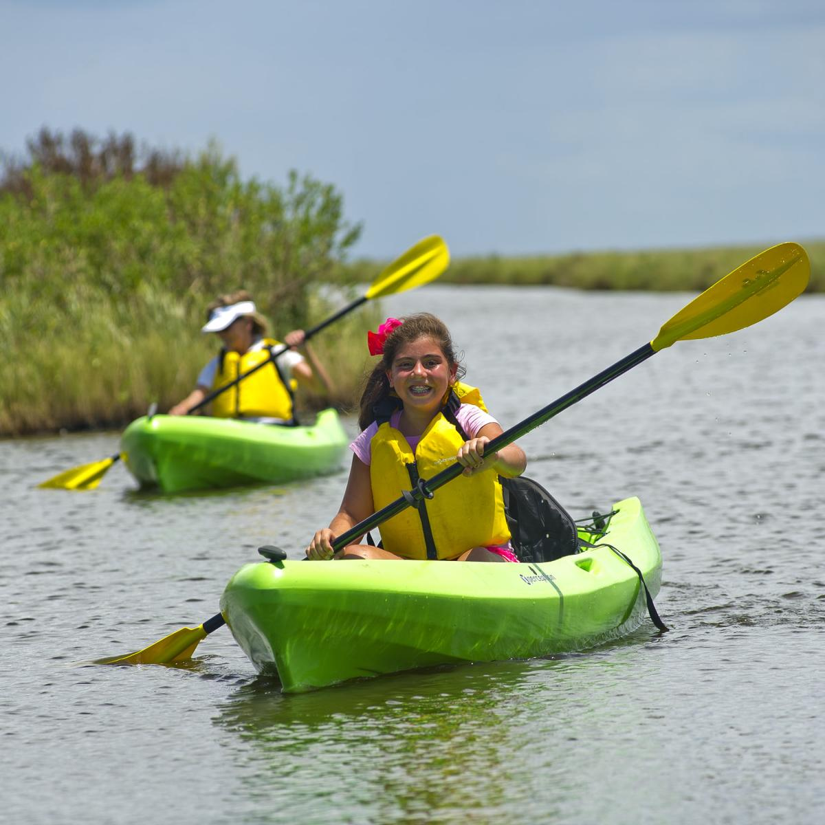 Canoeing at Sea Rim State Park in Port Arthur, TX