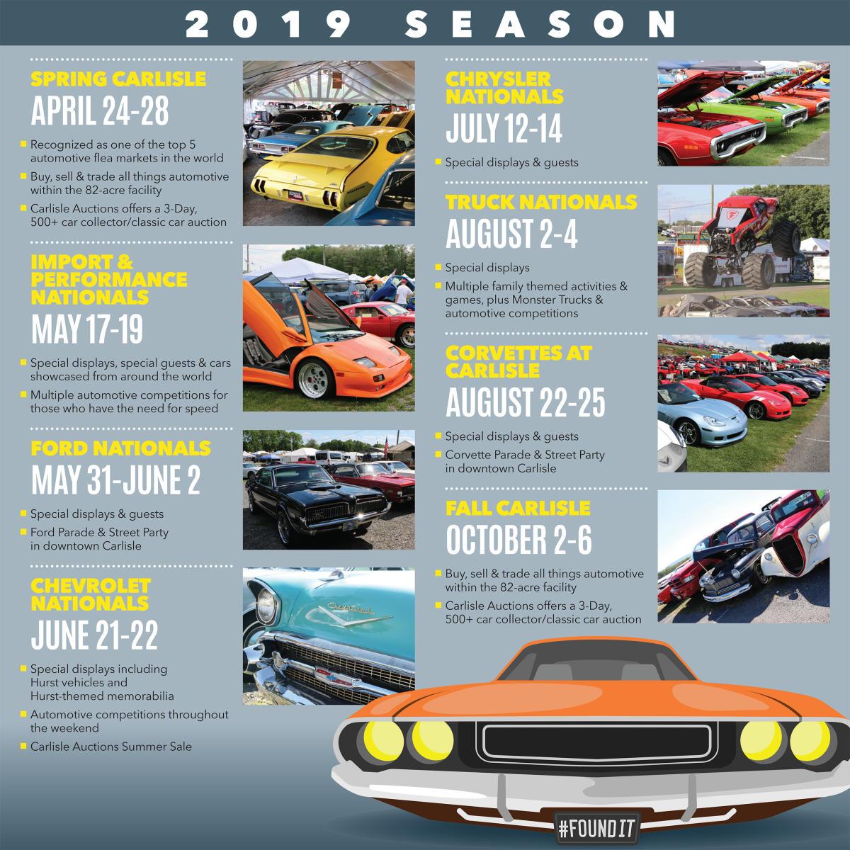 2019 Car Show Schedule