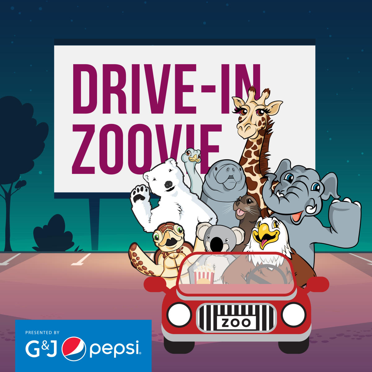 Columbus Zoo Drive-in Zoovie Graphic