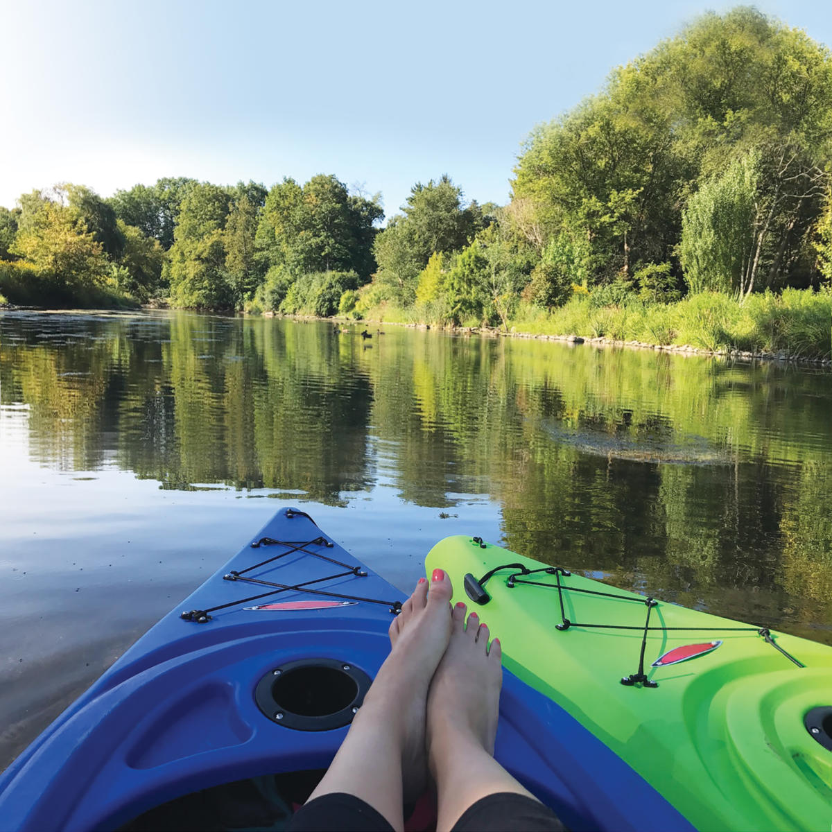Kayaking in Waterfall Glen Forest Preserve in DuPage County