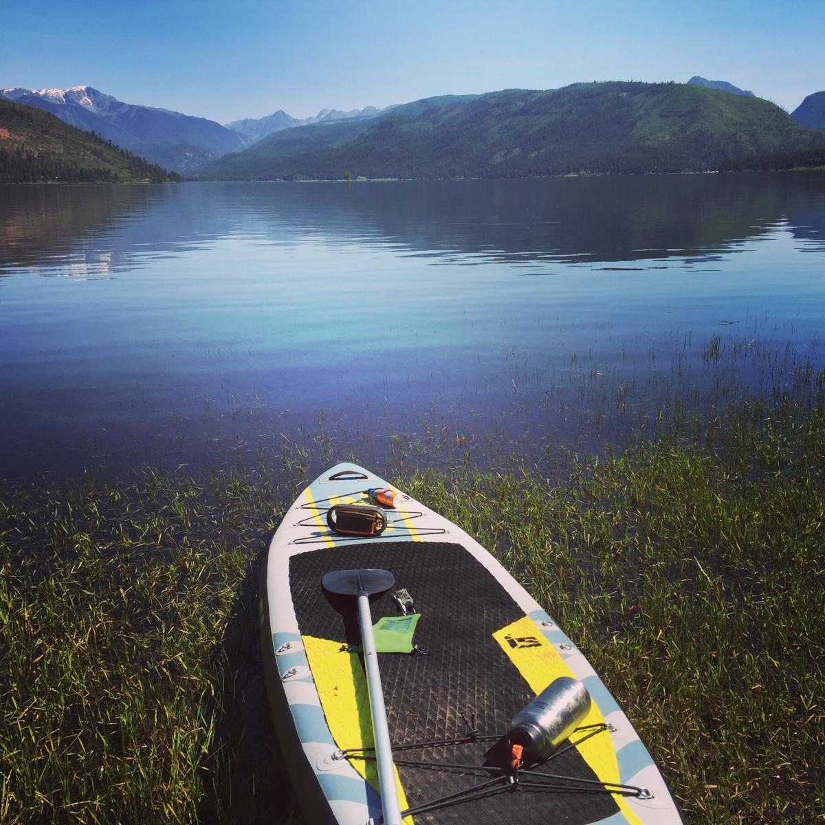 Paddling at Vallecito Lake