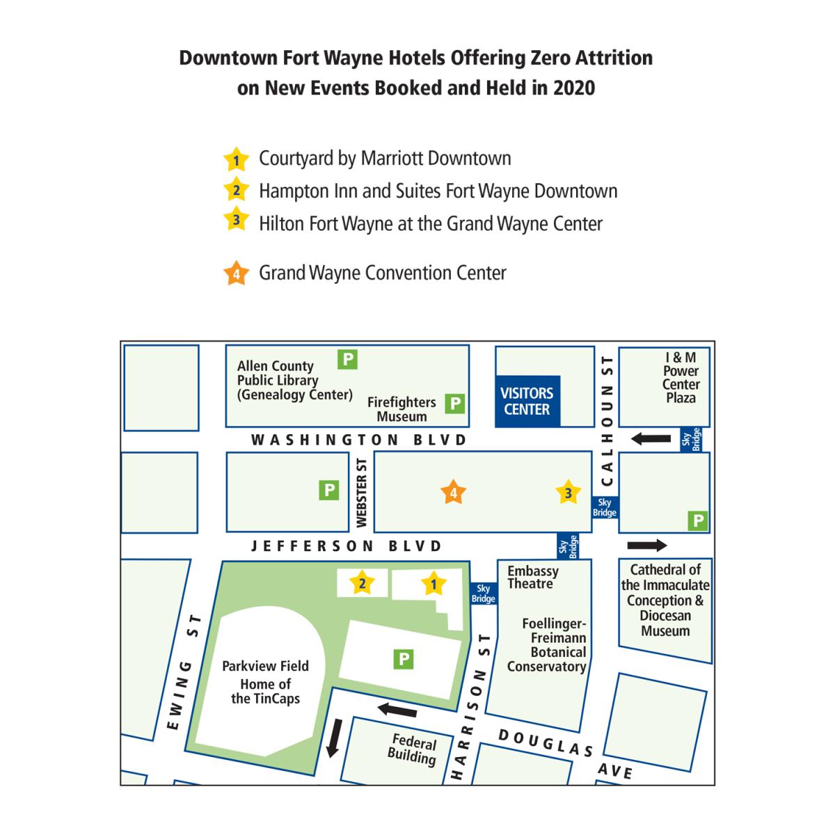 Zero Attrition Downtown Map