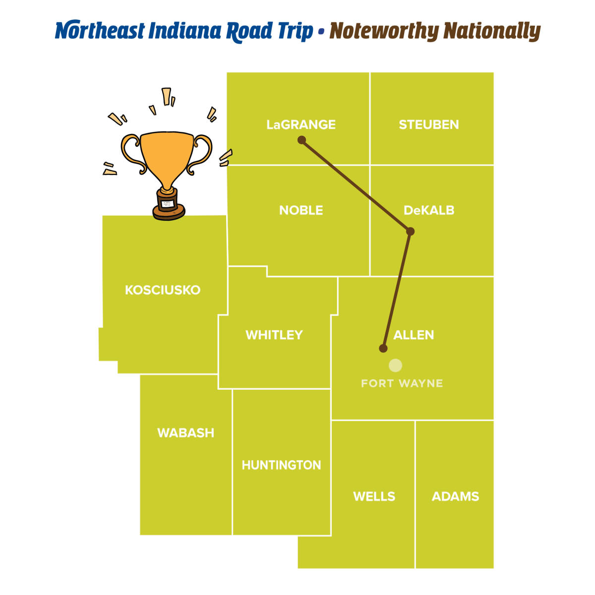 Noteworthy Nationally - Northeast Indiana Road Trips