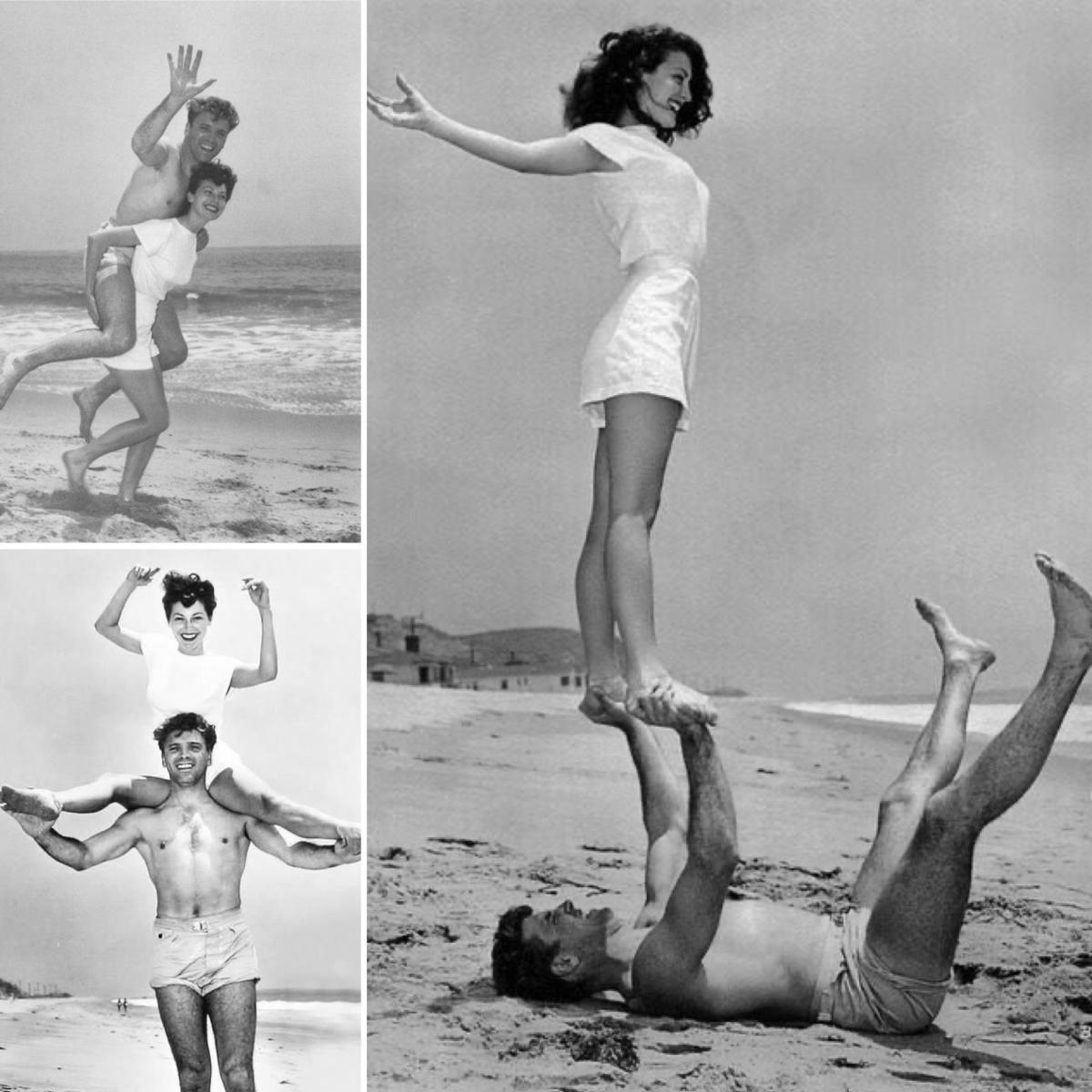 Ava Gardner and Burt Lancaster Publicity Photos on Beach