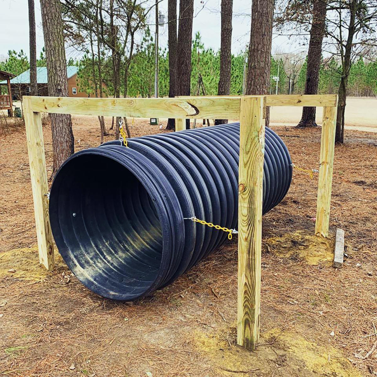 Howell Woods New Play Area offering young visitors a new place to play.