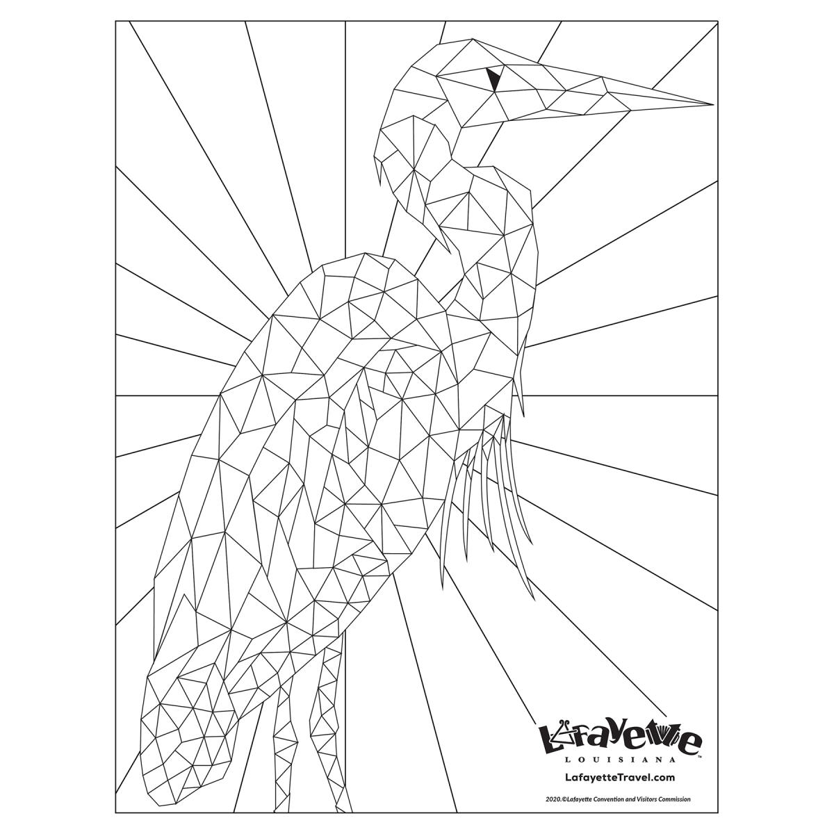 """Bob"" the Egret- Coloring Sheet"