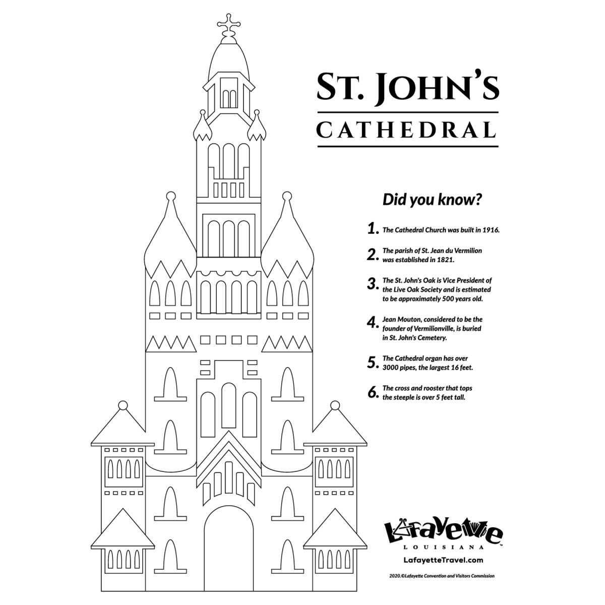 St. John's Cathedral - Coloring Sheet