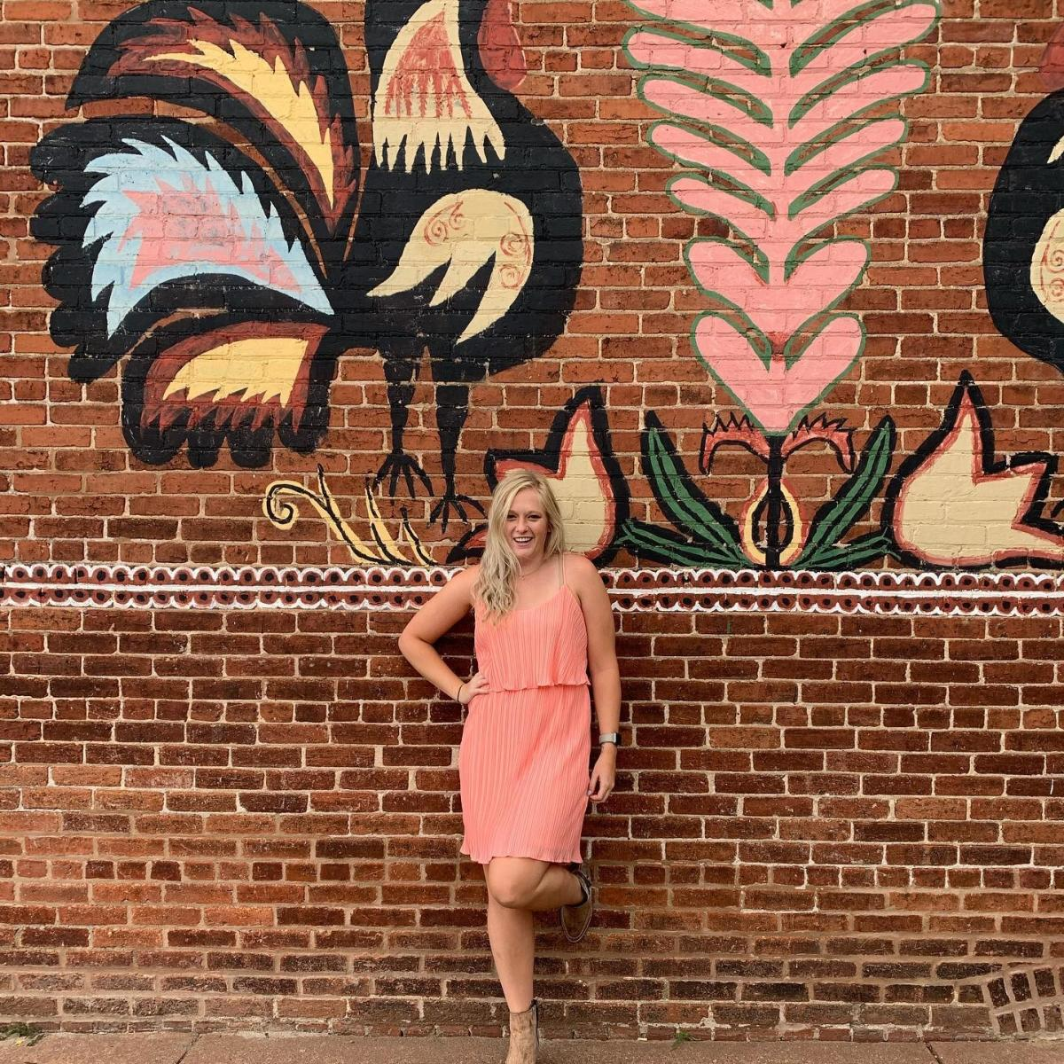 Polish Chicken Mural in Downtown Stevens Point