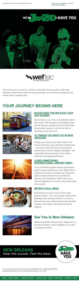 Newsletter eblast template
