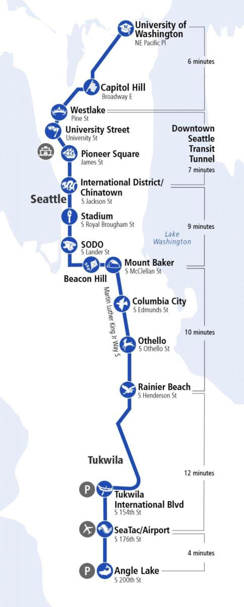 Link Light Rail   Seattle Southside Regional Tourism Authority