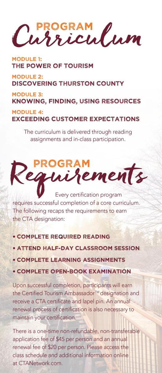 CTA Curriculum