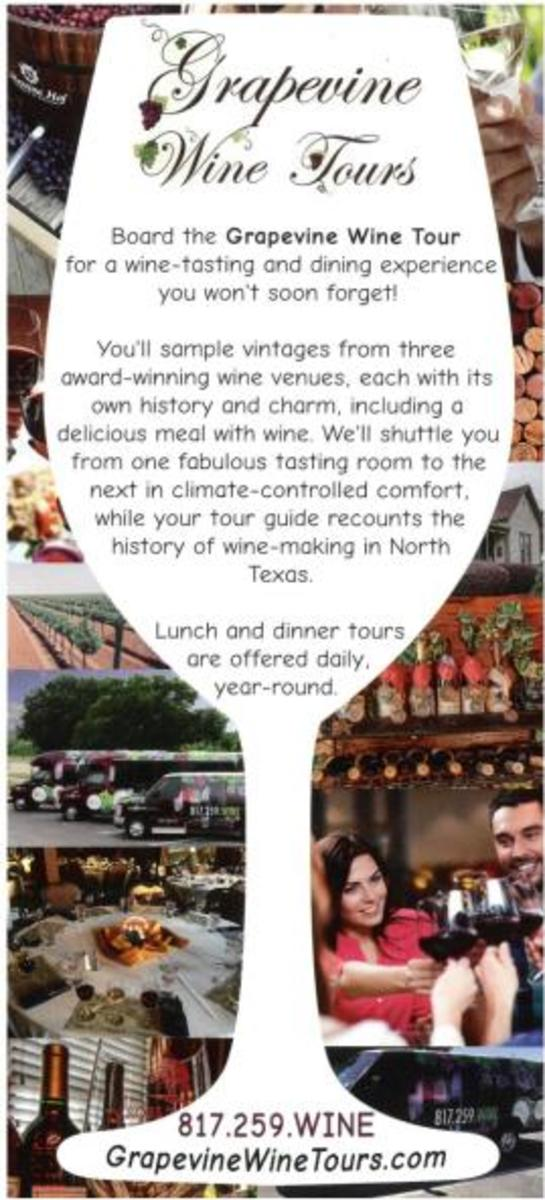 Grapevine Wine Tours Rack Card
