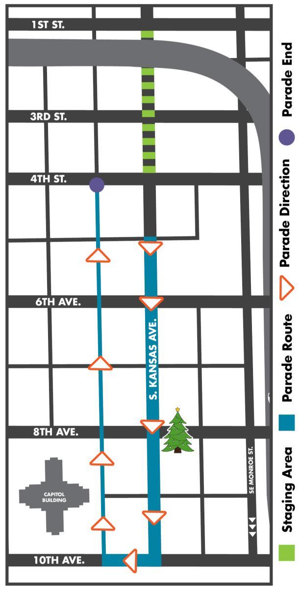 Christmas Parade Route 2020 Topeka Ks Miracle on Kansas Avenue Parade
