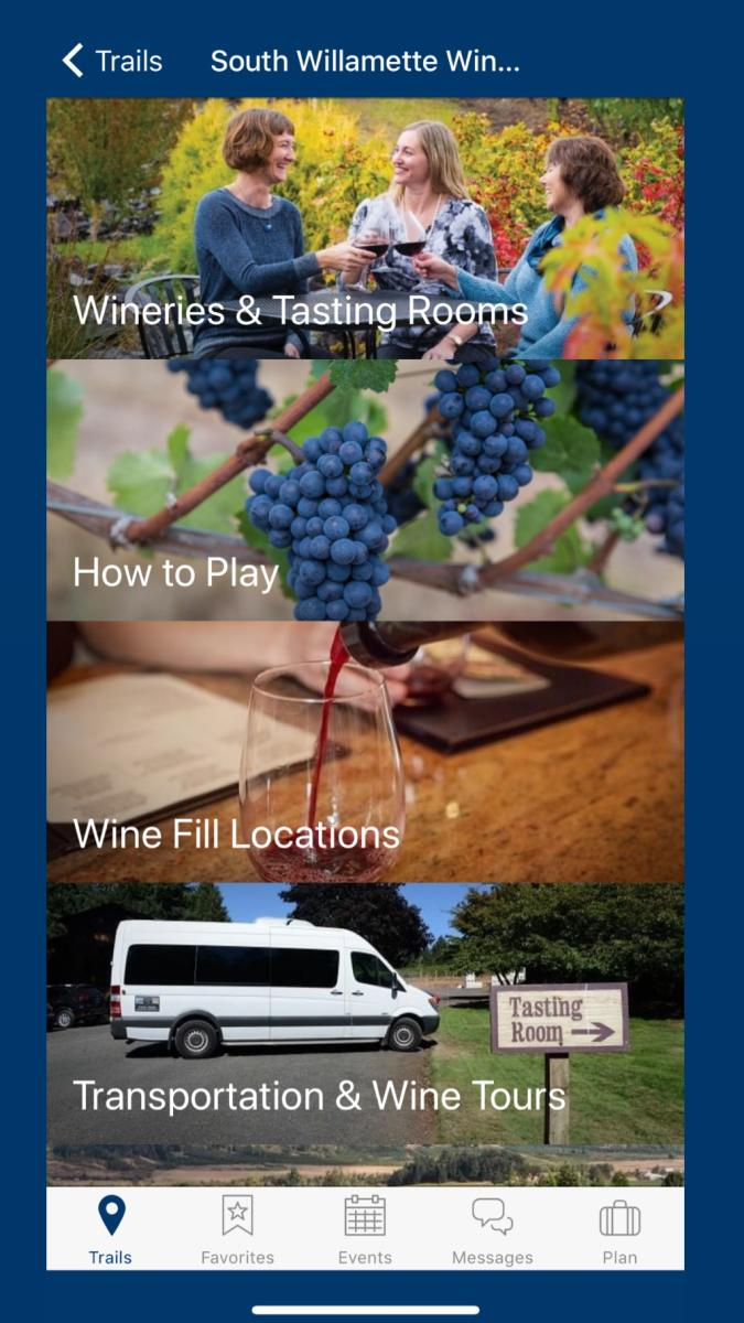 South Willamette Wine Trail App