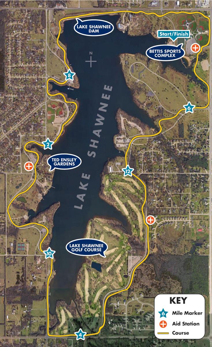 NJCAA Half Marathon Map - Lake Shawnee
