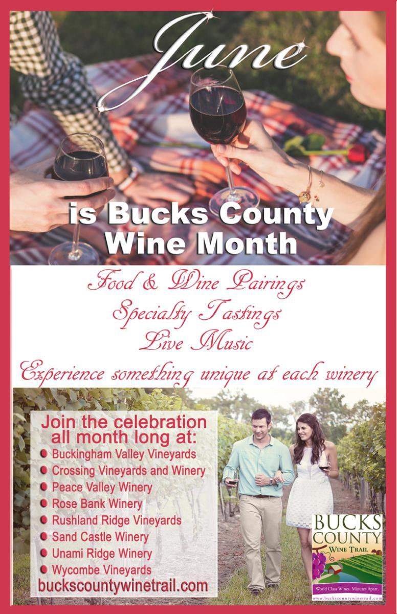 Bucks County Wine Trail Wine Month poster