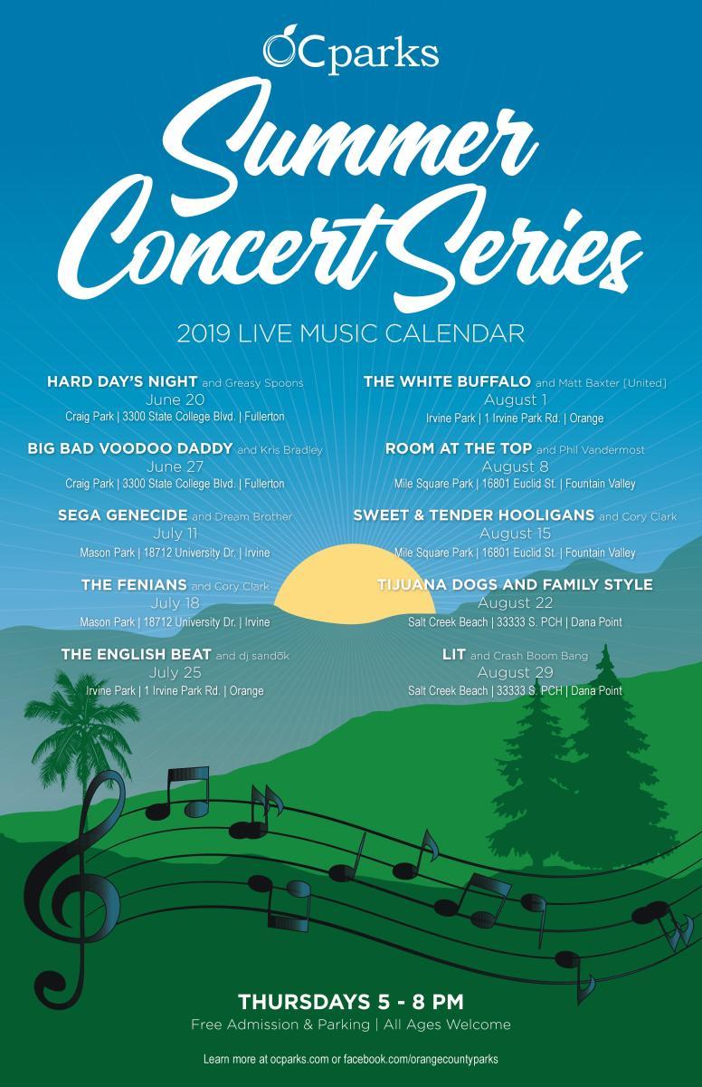 OC Parks 2019 Summer Concert Series Schedule