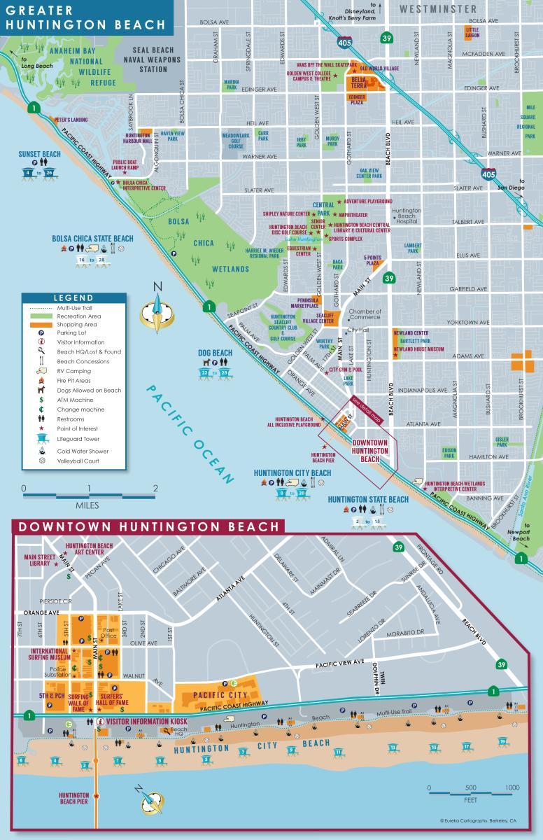 City of Huntington Beach Map