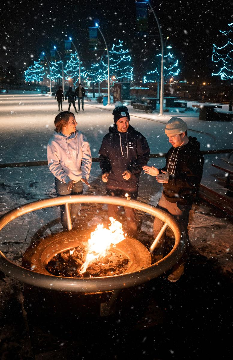 Kelowna Vibes Products at Stuart Park Fire Pit  Winter