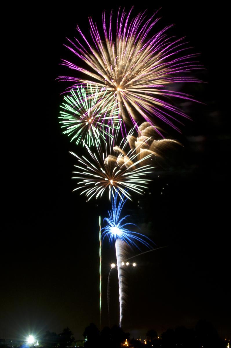 Fireworks at Tumbleweed Park