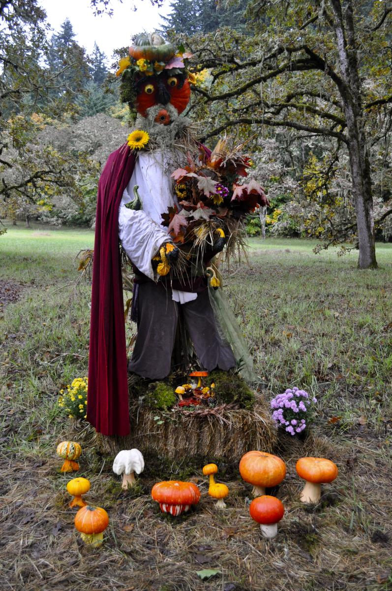 Scarecrow at Mount Pisgah Mushroom Festival by Caroline Harben