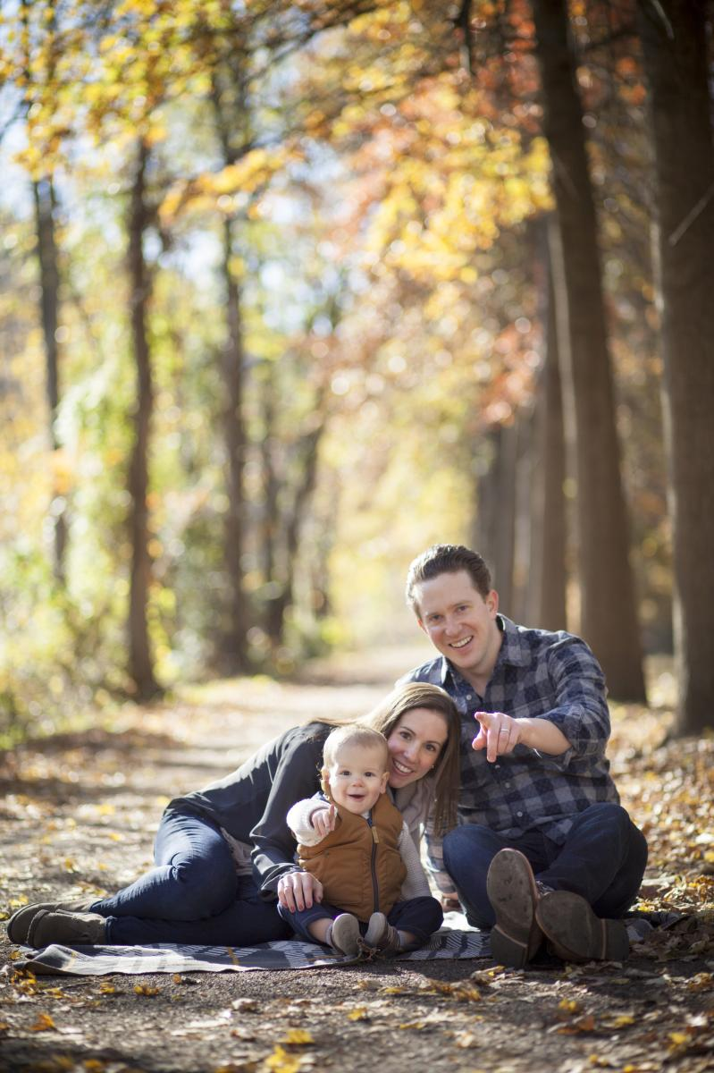 Fall family photo on the Canal Path