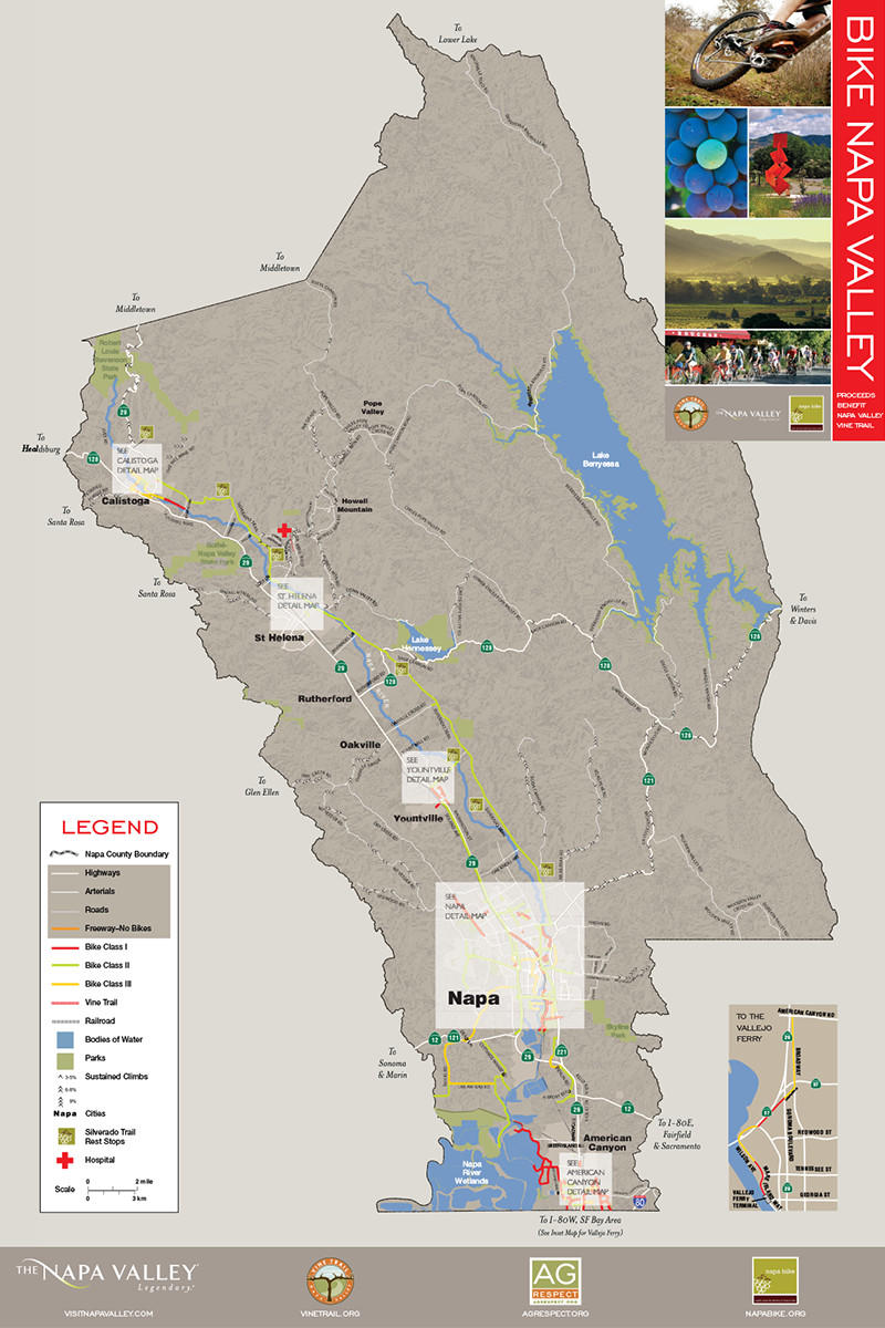 Napa Valley Bike Map
