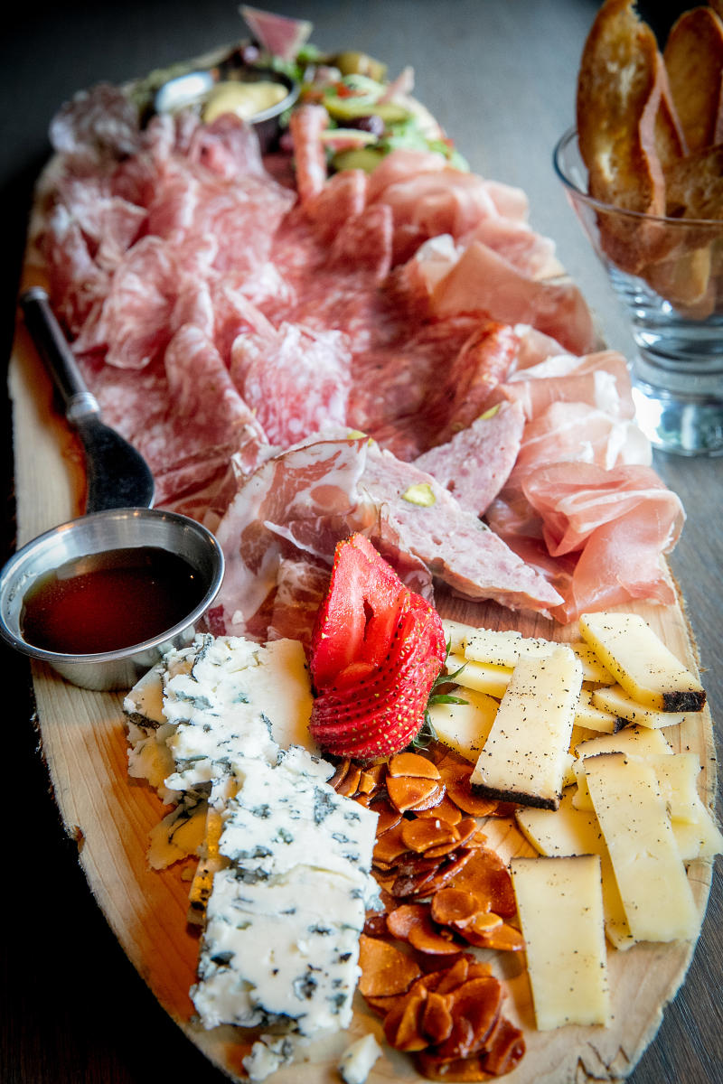Firestones Charcuterie with meats, cheese, and fruit