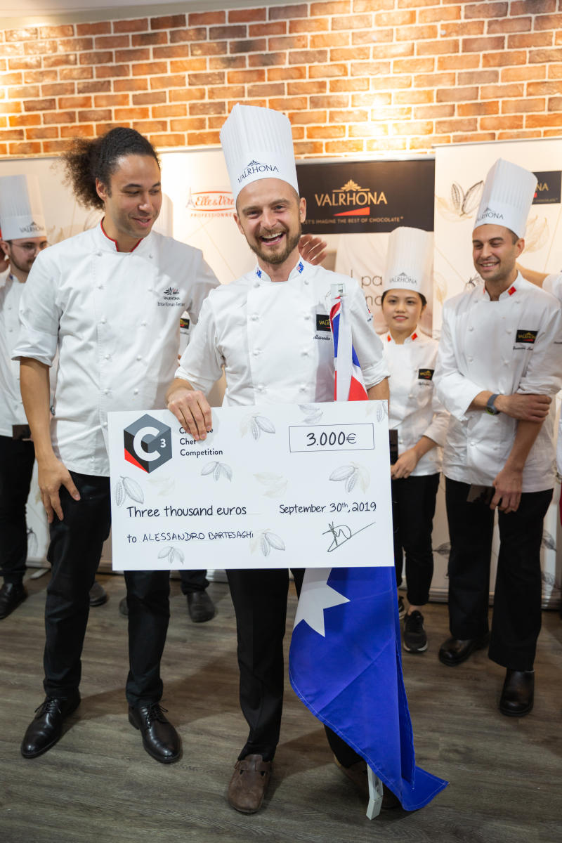 MCEC pastry chef at Valrhona competition. Executive Pastry Chef, Alessandro Bartesaghi