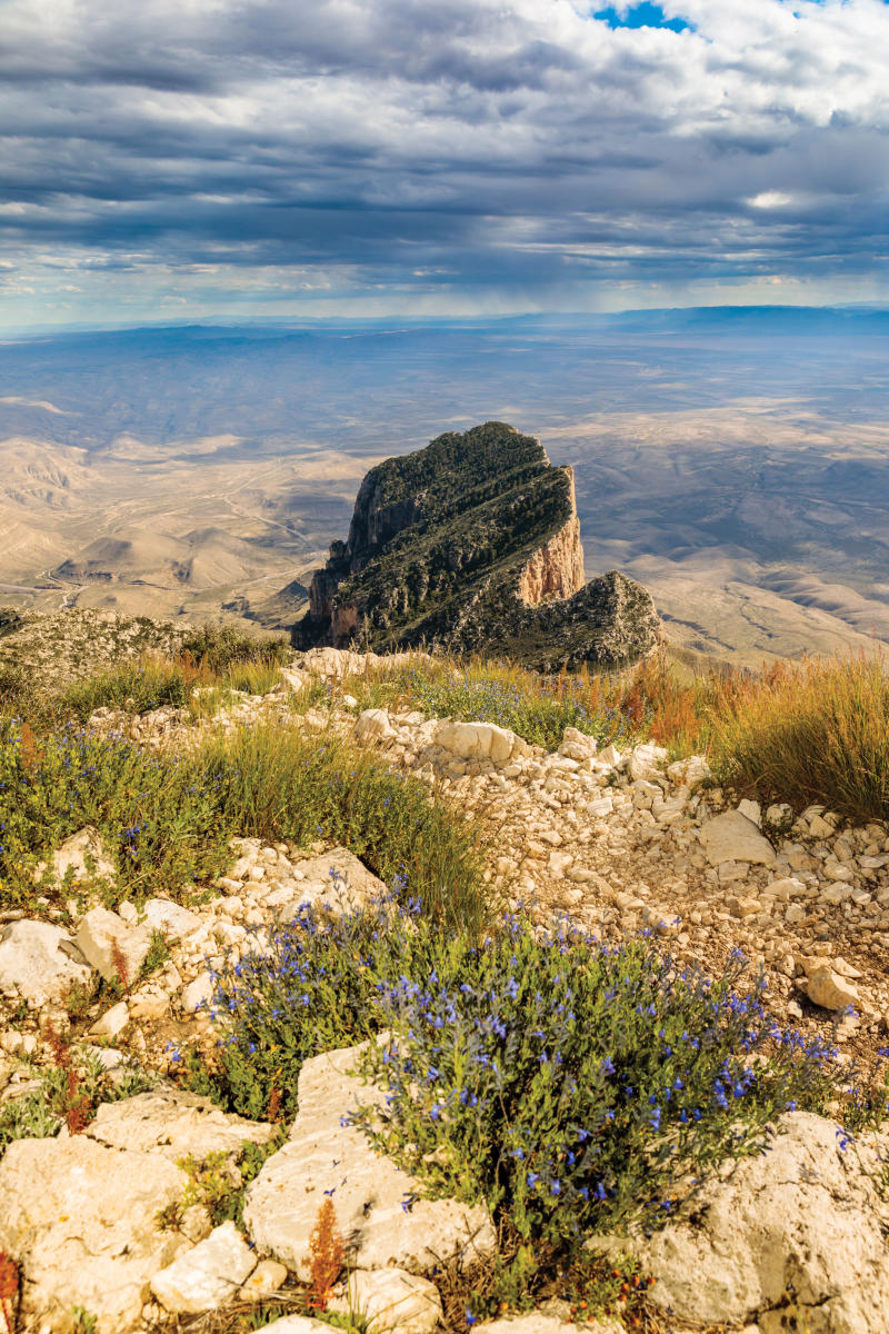 El Capitan was formed by an ancient limestone reef and is the southernmost point of the Guadalupe Mountains