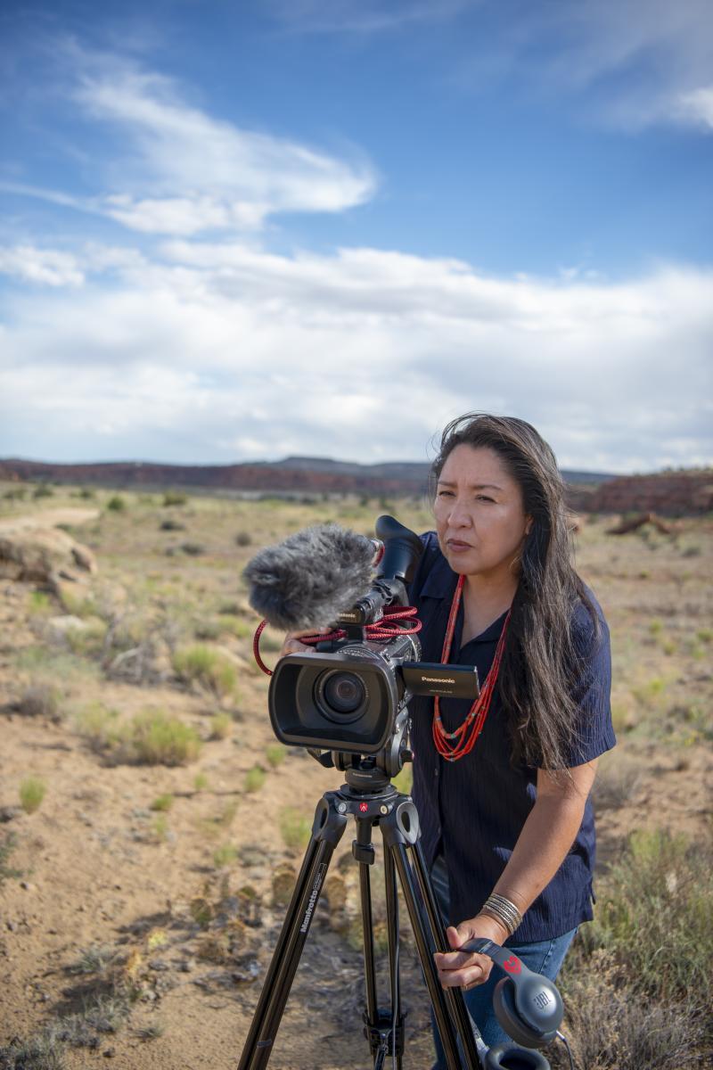 Diné (Navajo) filmmaker Ramona Emerson, New Mexico Magazine