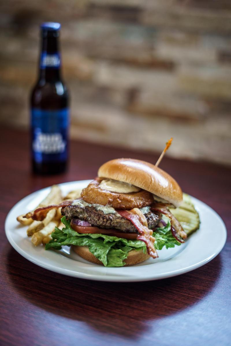 My Bleu Heaven Burger at CB3 in Rochester, MN