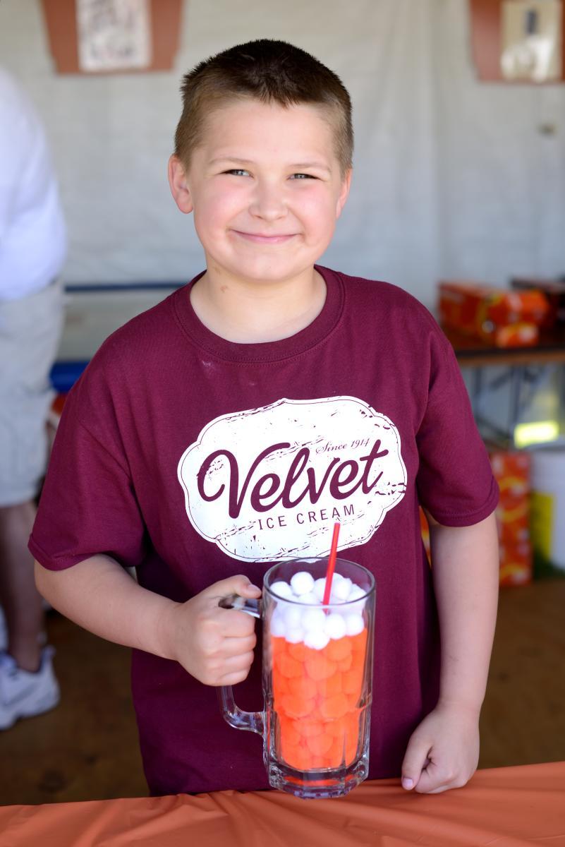 Boy in a Velvet Ice Cream shirt