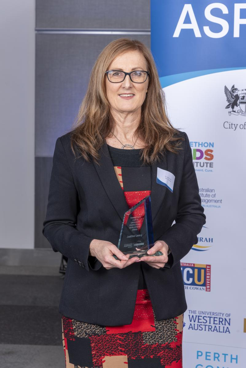 Curtin University ASPIRE Award 2019 Winner Dr Justine Leavy