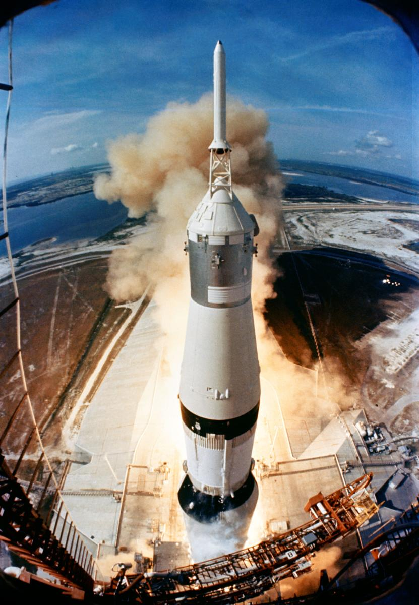 Apollo rocket launch