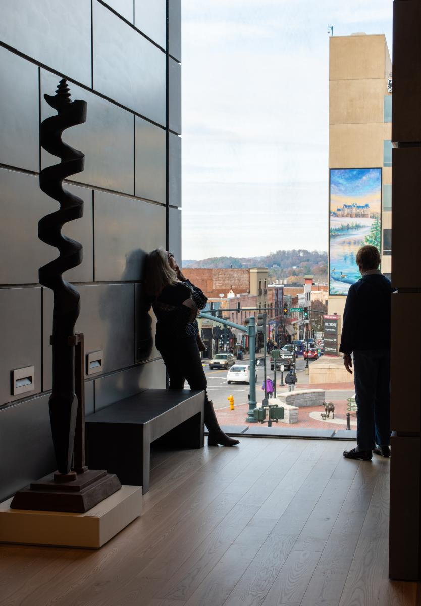 The Oculus at the Asheville Art Museum provides a unique view of downtown Asheville