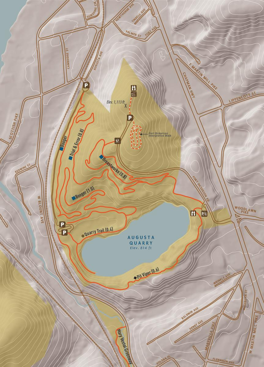 Fort Dickerson Park Map