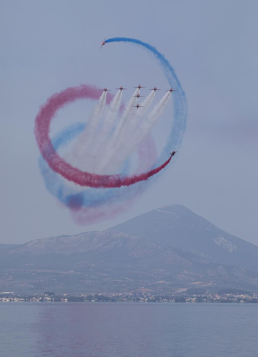 Red Arrows at The Great Pacific Airshow