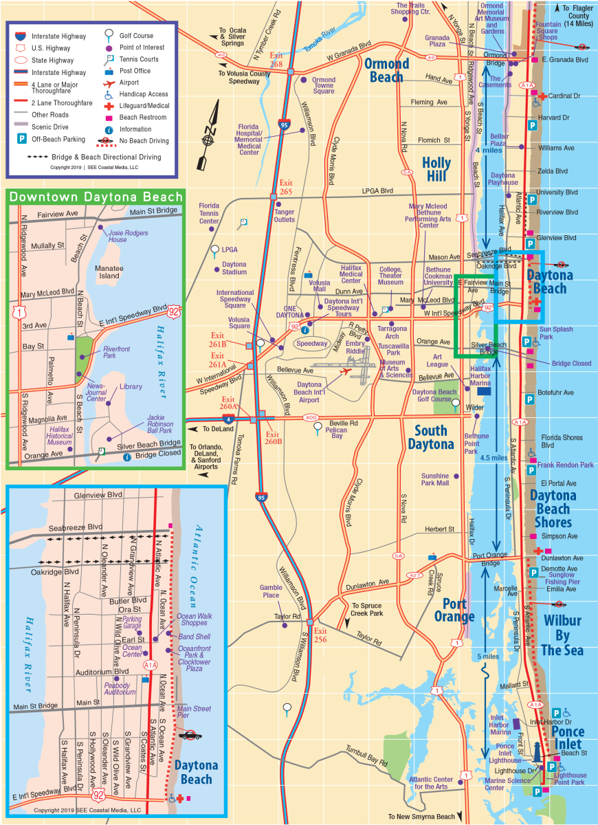 Daytona Beach Area Map