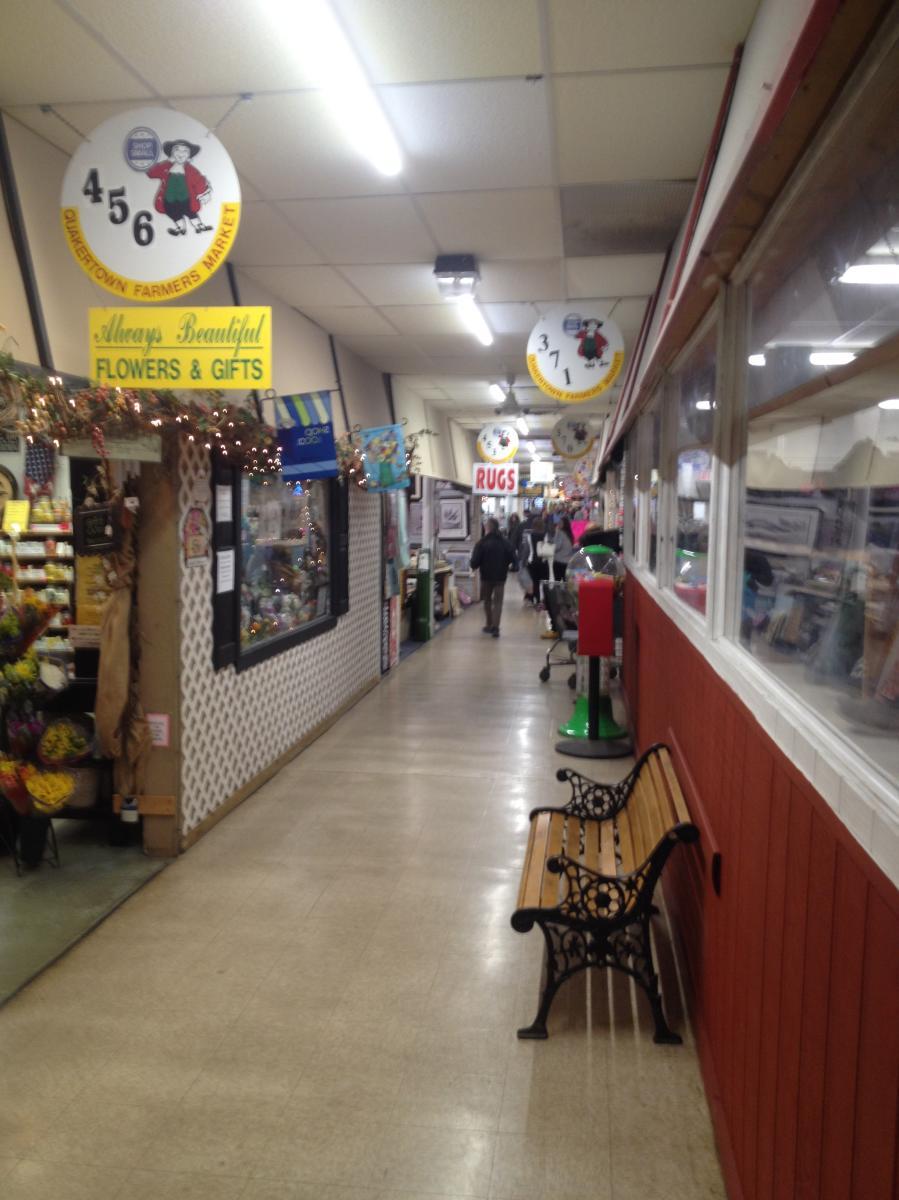 Quakertown Farmers Market walkway