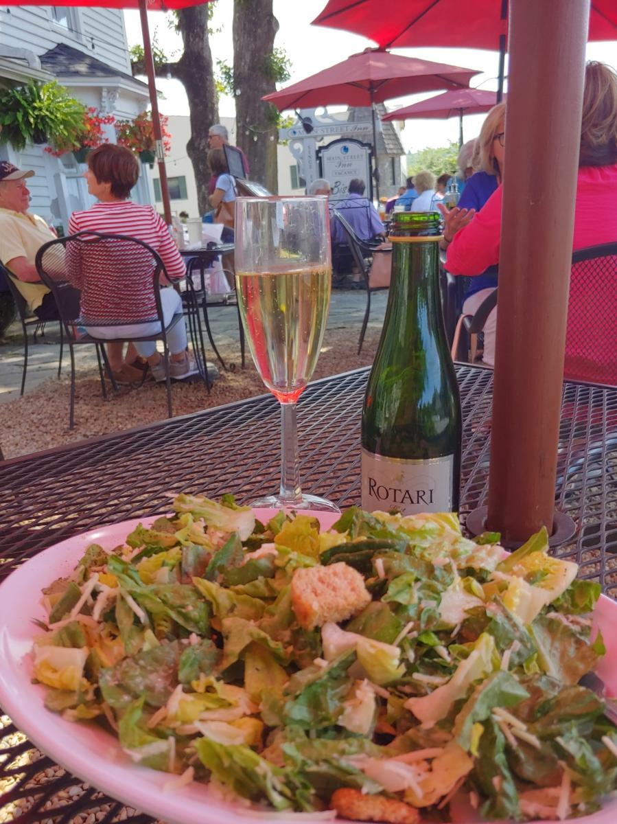Bistro on Main Salad & Prosecco