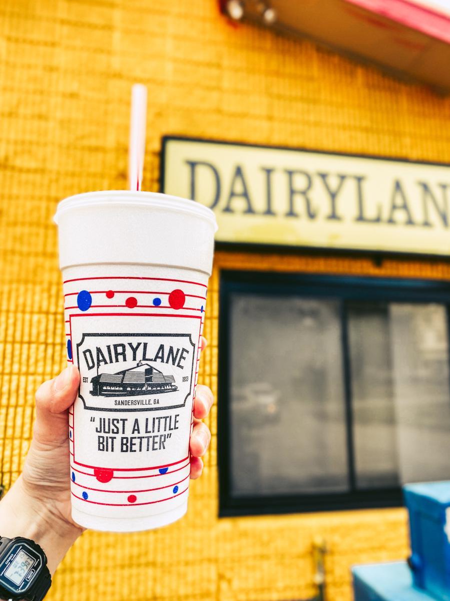 Dairy Lane milkshake