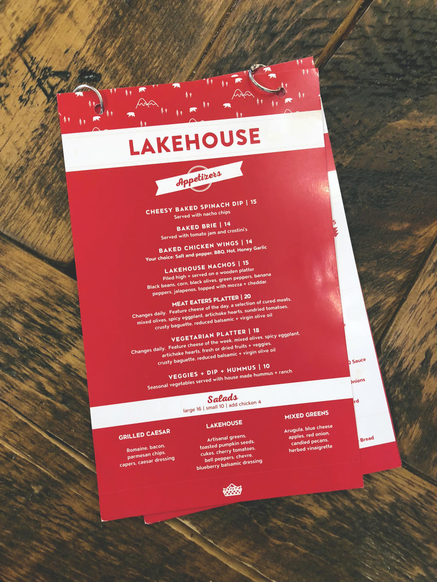 Lakehouse Menu