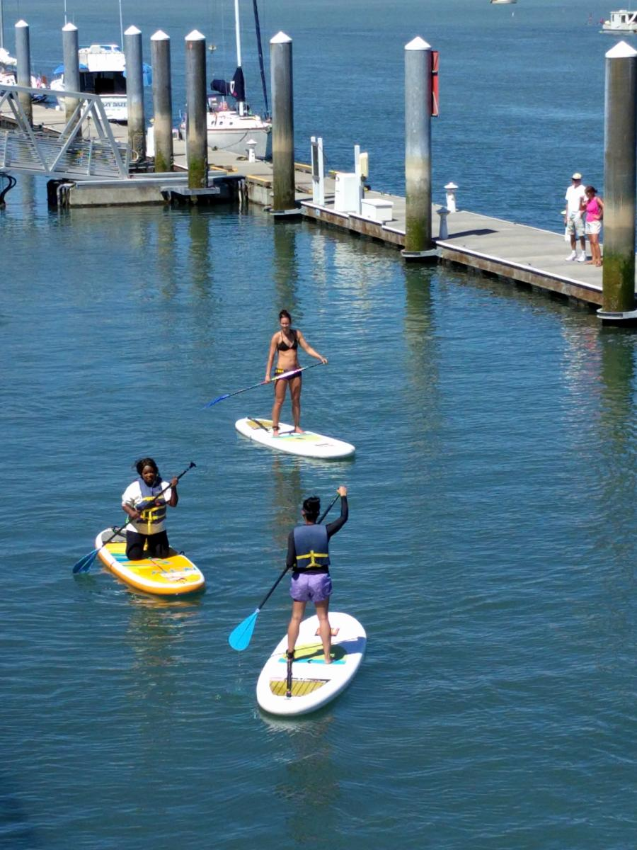 Stand up paddle boarding in the Foss Waterway