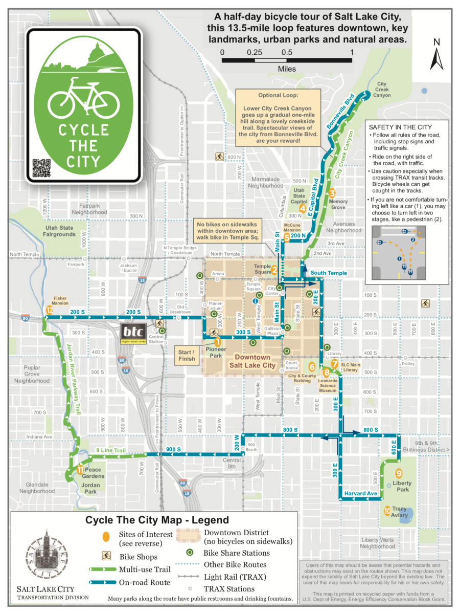 Salt Lake Bicycle Tour