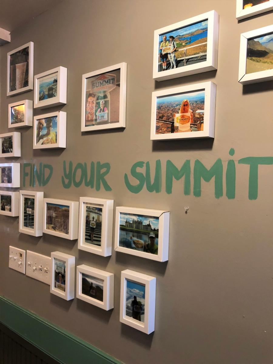 Summit Coffee Wall