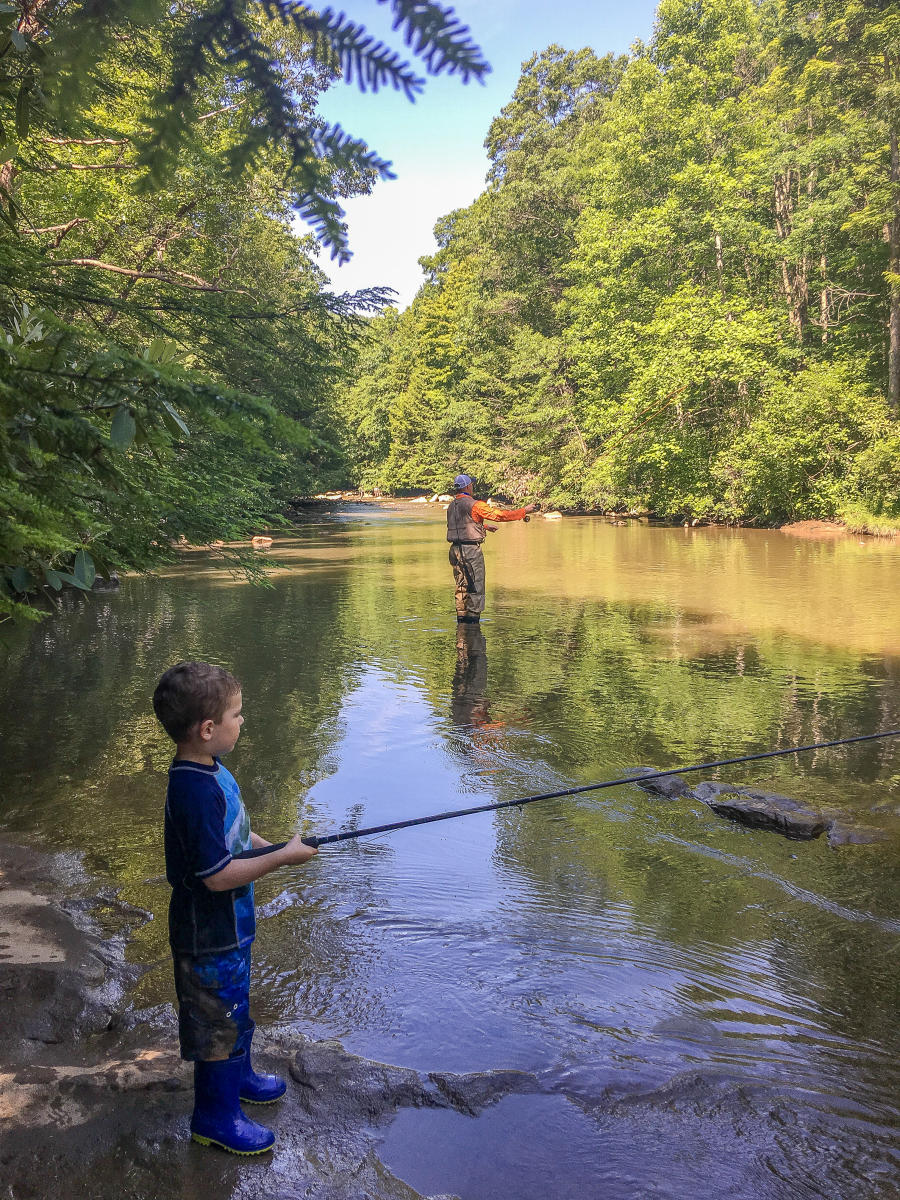 Family Fishing in the Laurel Highlands