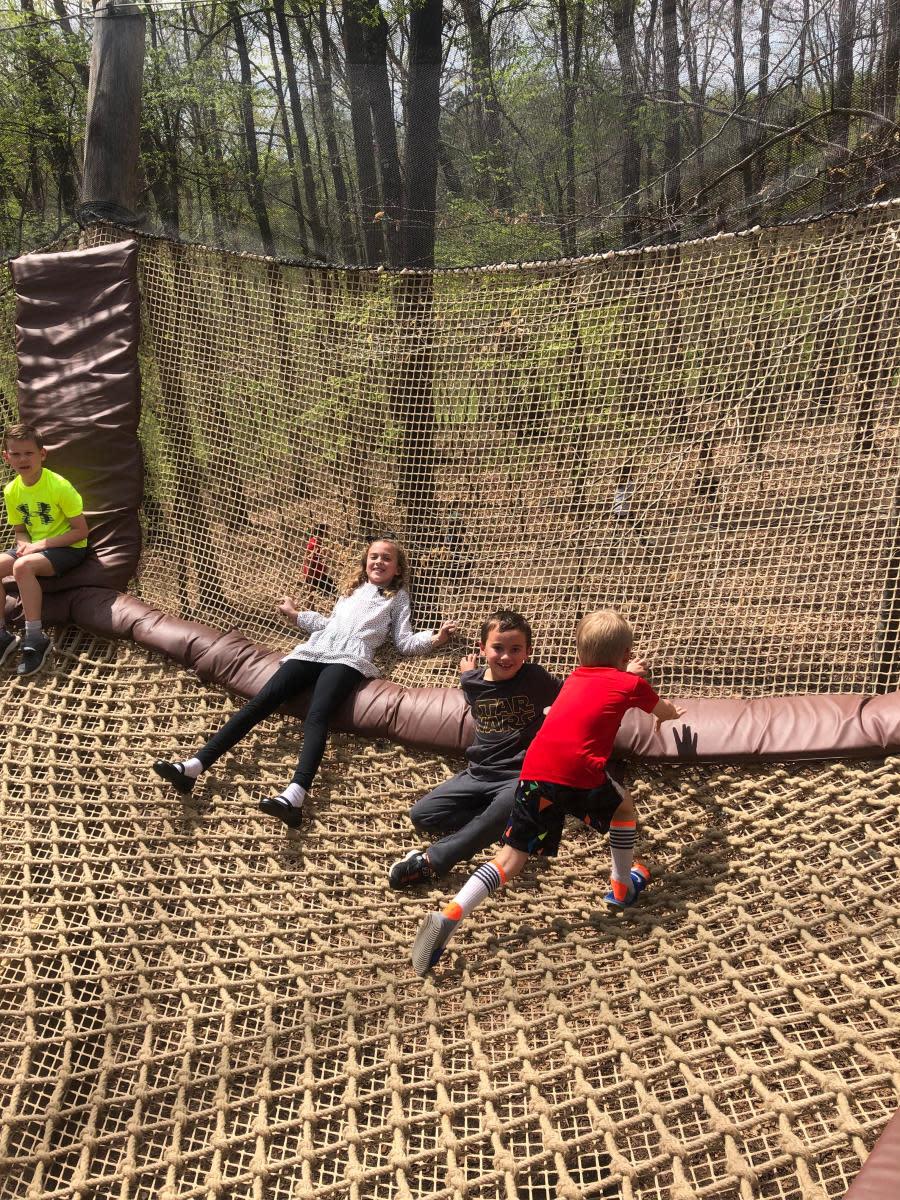 children's garden bounce net